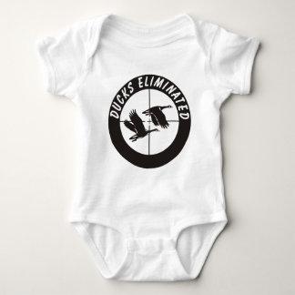 ducks_eliminated baby bodysuit