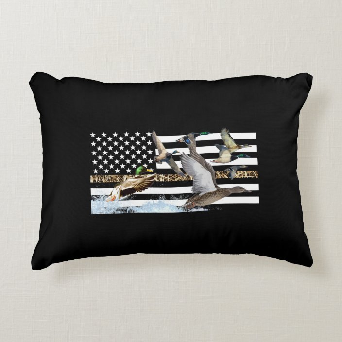 Ducks Flying Camouflage Accent Pillow Zazzle Com
