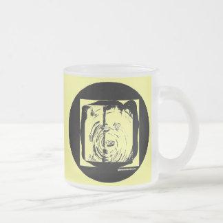 Ducks Frosted Glass Coffee Mug