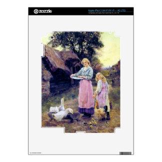 Ducks Hen Chicken Farm Birds Mother Daughter Skin For iPad 3