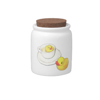 Ducks in a Cup Candy Jars