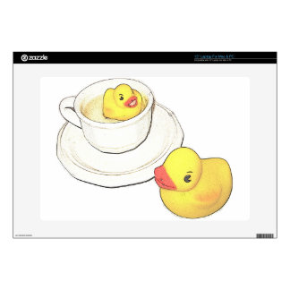 "Ducks in a Cup Decal For 15"" Laptop"