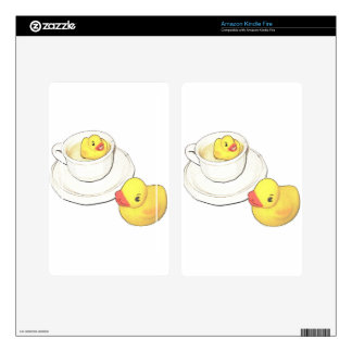 Ducks in a Cup Kindle Fire Decal
