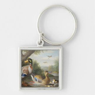 Ducks in a River Landscape Keychain