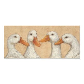 Ducks in a Row flat card