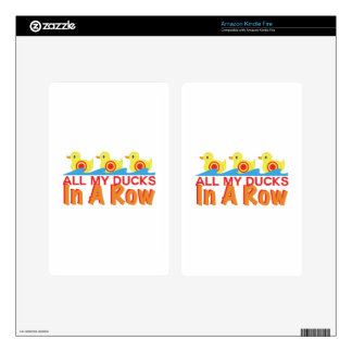 Ducks In A Row Kindle Fire Skins
