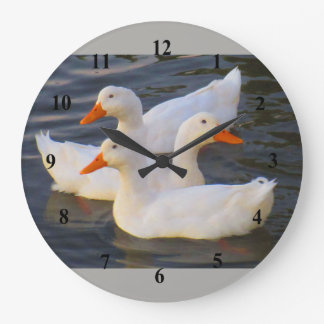 ducks in a row large clock