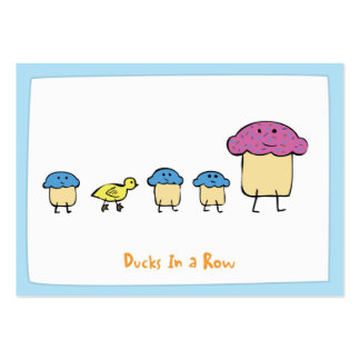 Ducks In a Row - Notecards Large Business Card
