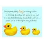 """Ducks in a Row"" Personalized Shower Invitation Post Cards"