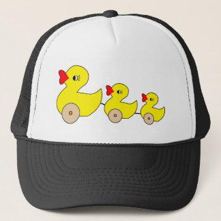 Ducks in a Row , retro fun Trucker Hat