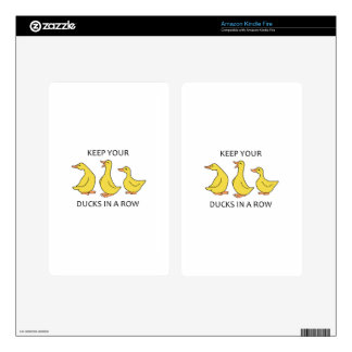 DUCKS IN A ROW KINDLE FIRE DECAL