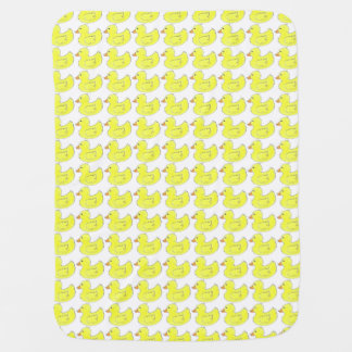 Ducks in a Row Yellow Rubber Duck Duckies Blanket
