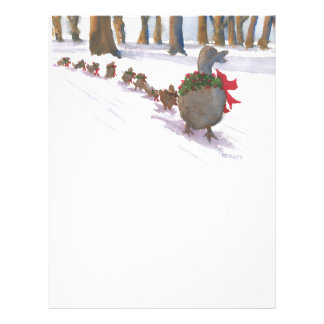 ducks in boston common during the winter holidays letterhead