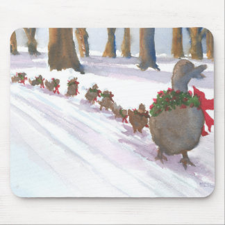 ducks in boston common during the winter holidays mouse pad