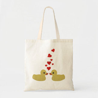 Ducks in Love Canvas Bags