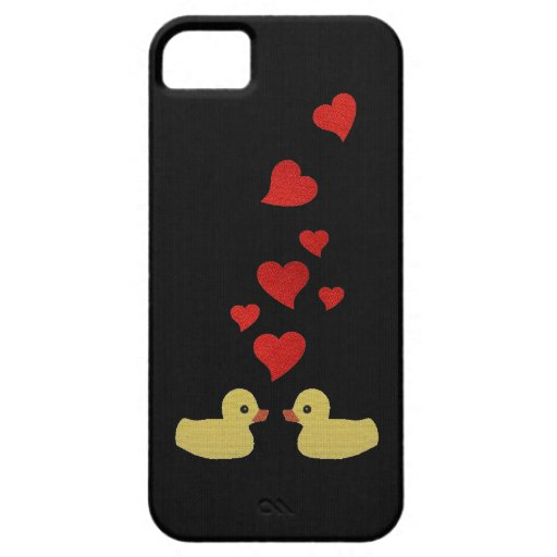 Ducks in Love on Black iPhone 5 Case
