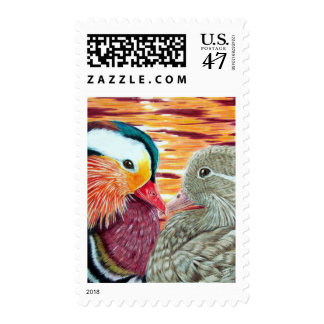 Ducks in Love Postage Stamp