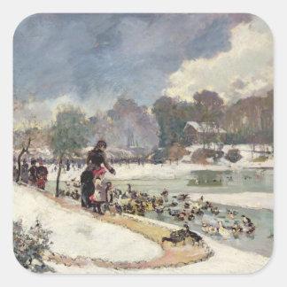 Ducks in the Bois de Boulogne Square Sticker