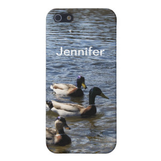 ducks in water, green timber park iPhone SE/5/5s case