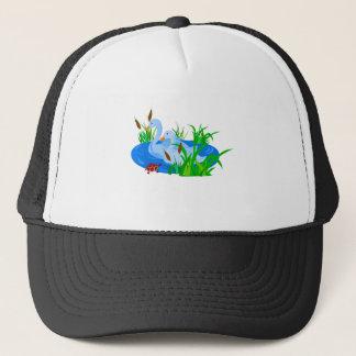 Ducks in water trucker hat