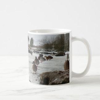 Ducks in Winter Classic White Coffee Mug