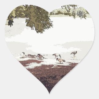 Ducks.jpg Pegatina En Forma De Corazón