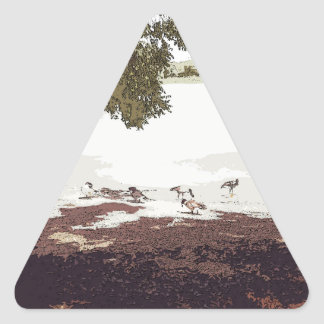 Ducks.jpg Pegatina Triangular