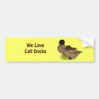 Ducks:  Khaki Calls Bumper Sticker