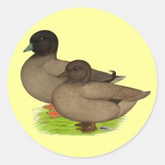 Ducks:  Khaki Calls Classic Round Sticker