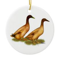 Ducks:  Khaki Campbell Ceramic Ornament