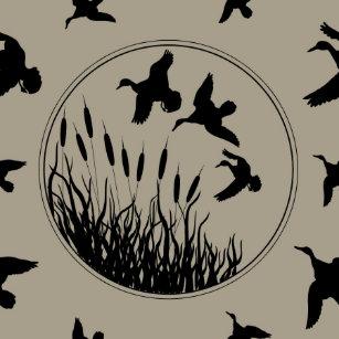 Ducks Masculine Duck Hunter Water Fowl Birds Shower Curtain