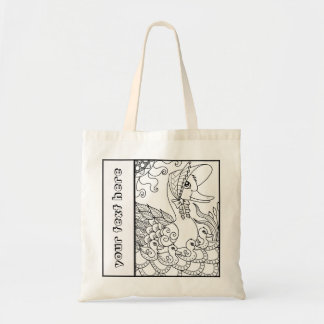 Ducks Mommy and Baby Tangle Color Me Tote Bag