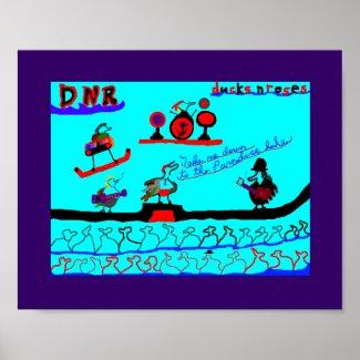 ducks n roses rock poster
