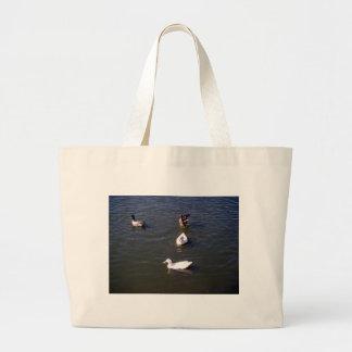 Ducks On A Lake Tote Bag