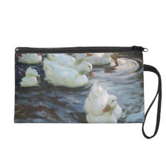 Ducks on a Pond Wristlet Purses