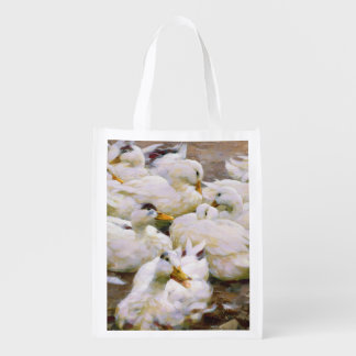 Ducks on a pond market tote