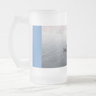 Ducks on lake  2011 16 oz frosted glass beer mug