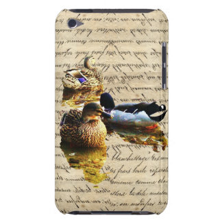 Ducks on vintage paper iPod touch covers