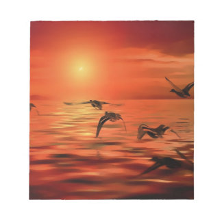 Ducks Over The Ocean Notepad