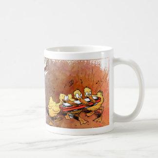 Ducks playing a harmonica coffee mug