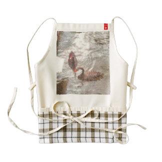 Ducks playing in water zazzle HEART apron