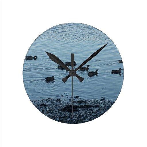 Ducks. Round Wall Clocks