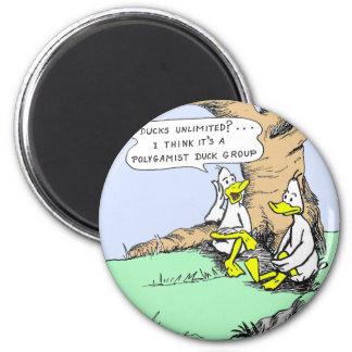 Ducks unlimited 2 inch round magnet