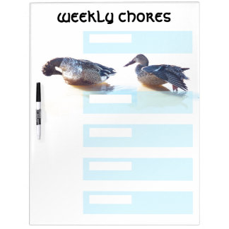 Ducks Weekly Chores Dry Erase Board
