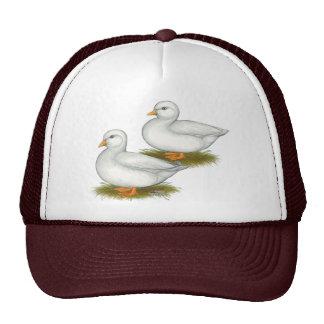 Ducks:  White Calls Mesh Hats