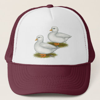 Ducks:  White Calls Trucker Hat