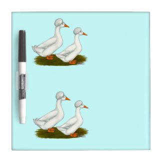 Ducks:  White Crested Dry Erase Whiteboard
