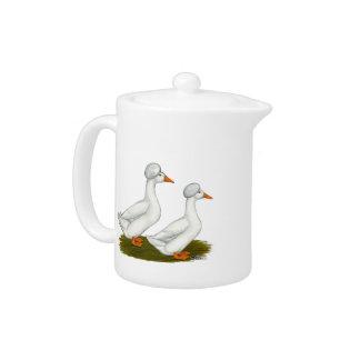 Ducks:  White Crested Teapot