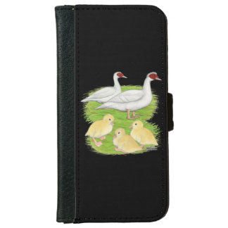 Ducks White Muscovy Family iPhone 6 Wallet Case
