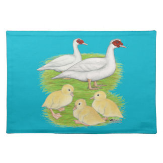 Ducks White Muscovy Family Placemat